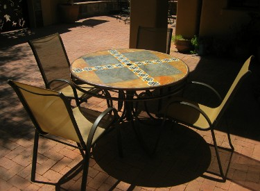 Tile Top Tables Garden Art Tucson Tucson Arizona